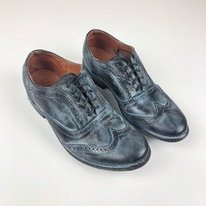 NIB Bed Stu Lita black rustic oxford 7 black blue